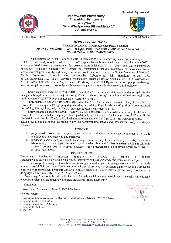 Więcej o: Woda w Gołczewie zdatna do spożycia